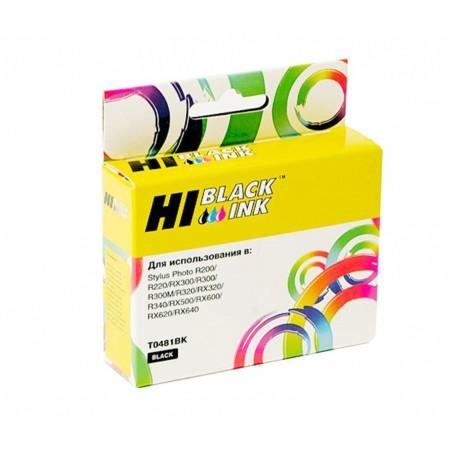 Картридж Hi-Black (HB-T0481) для Epson Stylus Photo R200/R300/RX500/RX600, Bk