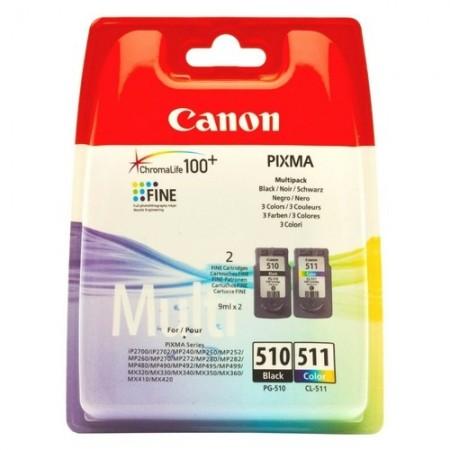 Набор картриджей Canon PIXMA MP240/260/480 Multi Pack PG-510+CL-511 (О)