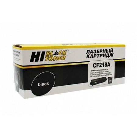 Тонер-картридж HP LJ Pro M104/MFP M132, Hi-Black (CF218A) для 1,4K, без чипа