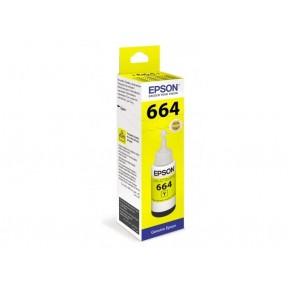 Чернила Epson L100/110/200/210/300/355/550/555 (O) C13T66444A, yellow, 70ml