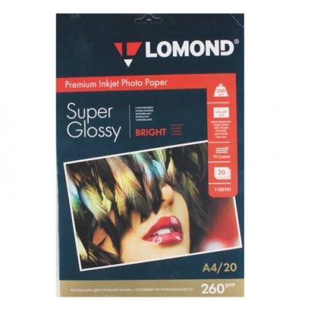 Фотобумага Lomond суперглянцевая (1103101), Super Glossy, A4, 260 г/м2, 20 л.
