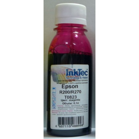 Чернила Epson R200/R270, E0010 (InkTec) T0823, M, 0,1л