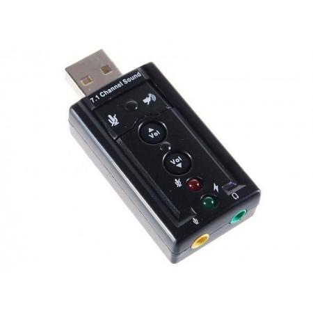Звуковая карта (7.1 virtual channel) (RTL) USB 2.0 с регулировкой громкости