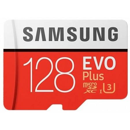 Карта памяти microSDXC 128Gb Class10 Samsung MB-MC128GA/RU EVO PLUS + adapter