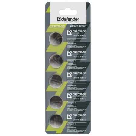 Defender Батарейка литиевая CR2032-5B в блистере 5 шт / 56201 /