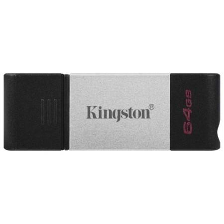Память Type-C 3.0 Kingston 64Gb DataTraveler 80 DT80/64GB черный
