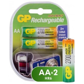 Аккумулятор GP 270AAHC AA NiMH 2700mAh (2шт)