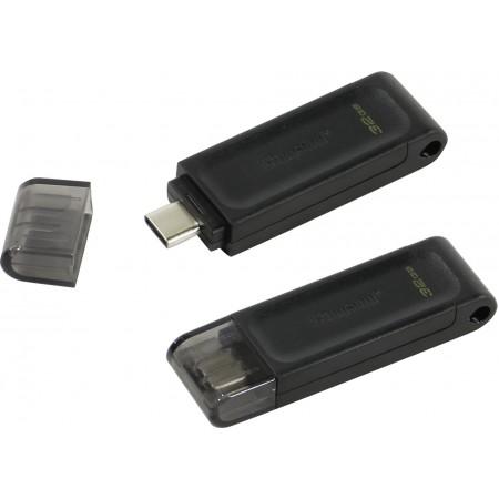 Память Type-C 3.0 Kingston 32Gb DataTraveler 70 DT70/32GB черный