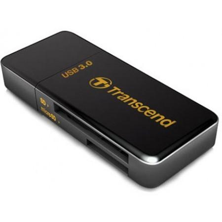Transcend Универсальный картридер / TS-RDF5K / USB3.0 Single-Lun Reader, Black