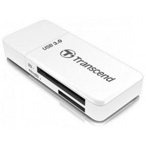 Transcend Универсальный картридер / TS-RDF5W / USB3.0 Single-Lun Reader, White