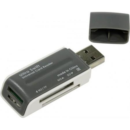 Defender#1 Универсальный картридер Ultra Swift USB 2.0, 4 слота / 83260 /