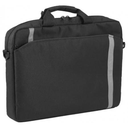 """Сумка Defender для ноутбука Shiny 15''-16"""" черный, светоотражающая полоса / 26097 /"""