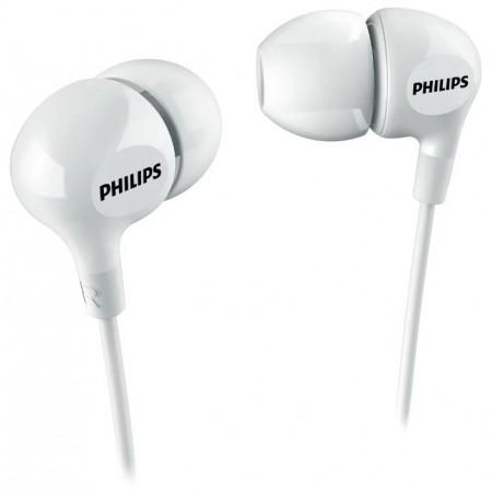 Внутриканальные стереонаушники Philips SHE3550, 3.5 мм, вкладыши, белый [she3550wt/00]