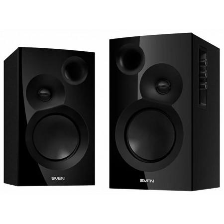 Колонки деревянные SVEN SPS-635, чёрный, акустическая система 2.0, мощность 2x20 Вт(RMS) / SV-014247 /