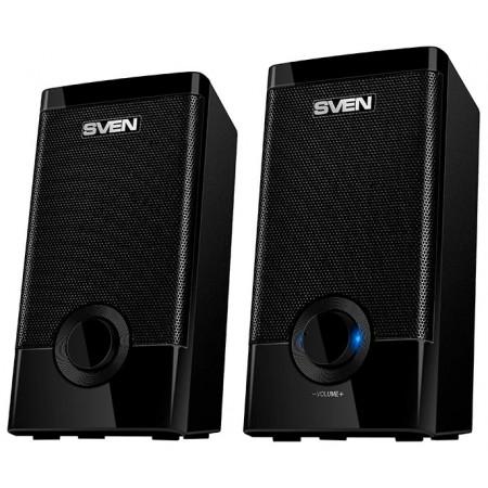 Колонки SVEN 318, чёрный, акустическая система 2.0 (USB, мощность 2x2.5 Вт(RMS)), черный / SV-015176 /