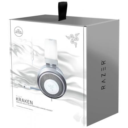 Игровая гарнитура RAZER Kraken X Mercury игровые, с микрофоном, RZ04-02890300-R3M1 2771