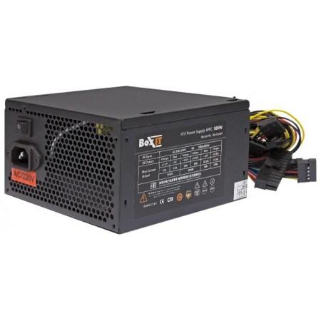 Блок питания ATX BoxIT JM-A500w 120mm fan/20+4P/P8(4+4) 600mm/P(6+2)x2/APFC black