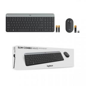 Беспроводной набор клавиатура+мышь Logitech Slim Wireless Keyboard and Mouse Combo MK470 GRAPHITE 920-009206
