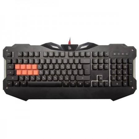 Клавиатура A4 Bloody B328 игровая, мультимедиа, подсветка LED, USB, чёрный