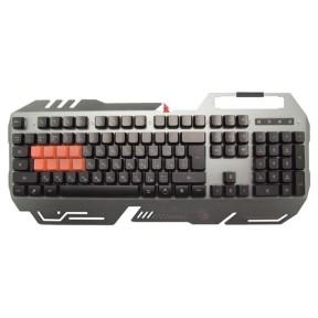Клавиатура A4 Bloody B418 игровая, мультимедиа, подсветка LED, USB, серый