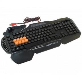 Клавиатура A4 Bloody B318 игровая, мультимедиа, подсветка , USB, чёрный