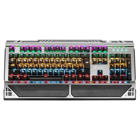 Клавиатура Oklick 980G HUMMER механическая черный USB for gamer LED (подставка для запястий)