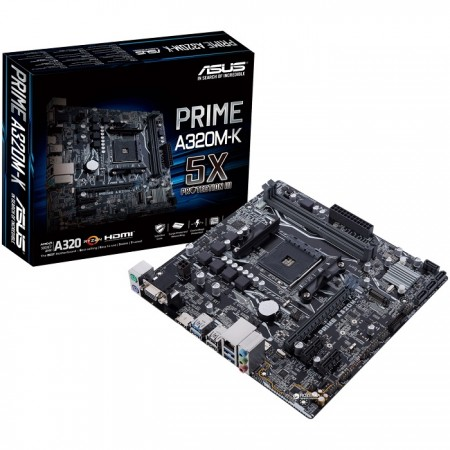 Материнская плата ASUS PRIME A320M-K, SocketAM4, AMD A320, mATX, Ret