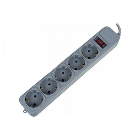 Сетевой фильтр PC Pet AP01006-5-G 5м (5 розеток) серый (пакет ПЭ)