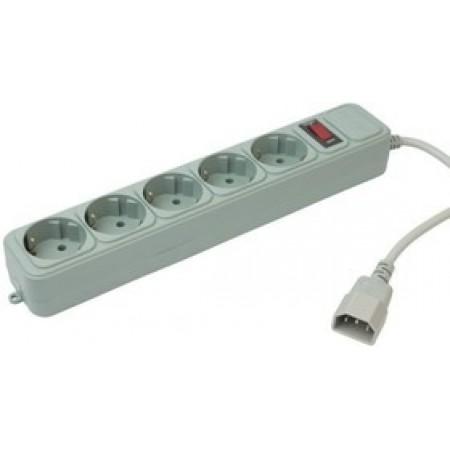 Сетевой фильтр PC Pet AP01006-E-G 1.8м (5 розеток) серый (пакет ПЭ)