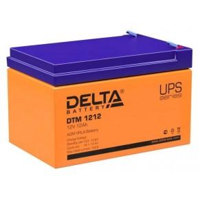 Аккумуляторная батарея Delta DTM 1212 (12V 12Ah)