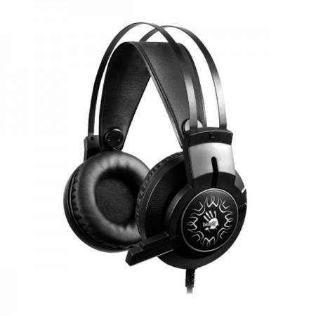 Наушники с микрофоном A4Tech Bloody J437 черный 1.8м мониторные USB оголовье (J437)