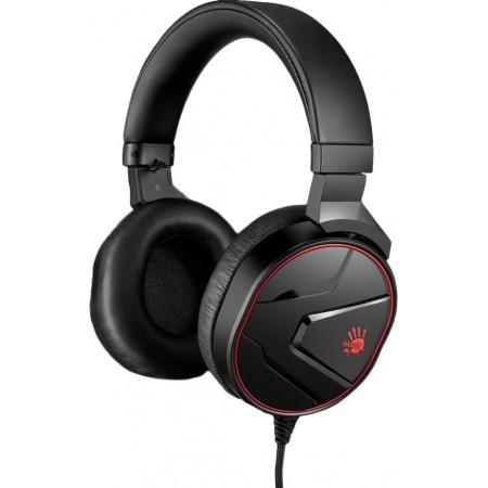 Наушники A4 Bloody G600i игровые, с микрофоном, USB, чёрный
