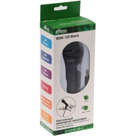 Микрофон RITMIX RDM-120, черный [15120024]