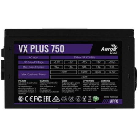 Блок питания 750W AeroCool VX-750 PLUS BOX