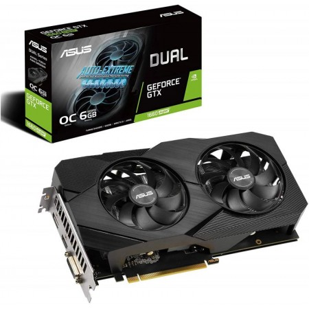 Видеокарта nVidia PCI-E 6Gb GeForce GTX 1660 SUPER ASUS DUAL-GTX1660S-O6G-MINI