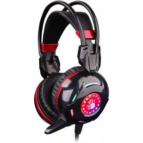 Наушники A4 Bloody G300 игровые, с микрофоном, черно-красный