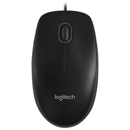 Мышь Logitech Optical Mouse B100 Black USB OEM 910-003357