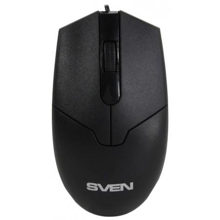 Мышь SVEN RX-30 USB чёрная (2+1кл. 1000DPI, цвет. картон, каб. 2м.) / SV-018214
