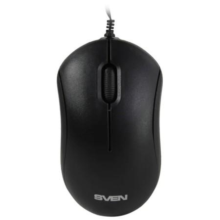 Мышь SVEN RX-60 USB чёрная (2+1кл. 1000DPI, цвет. картон, каб. 0.7м.) / SV-017682 /