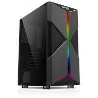 Корпус ATX Midi-Tower BOXIT 4709BB, без БП, RGB лента, черный
