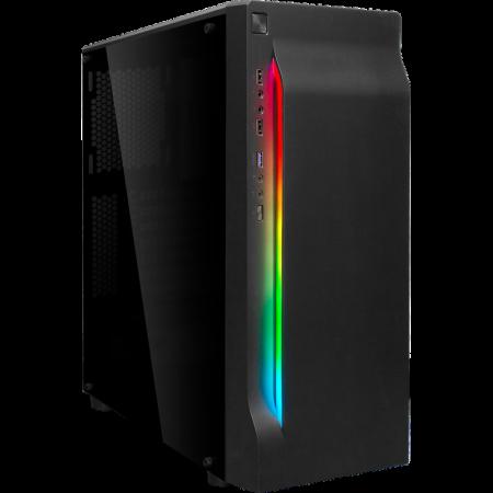 Корпус ATX Midi-Tower BOXIT 4707BB без БП, RGB лента, черный 1082