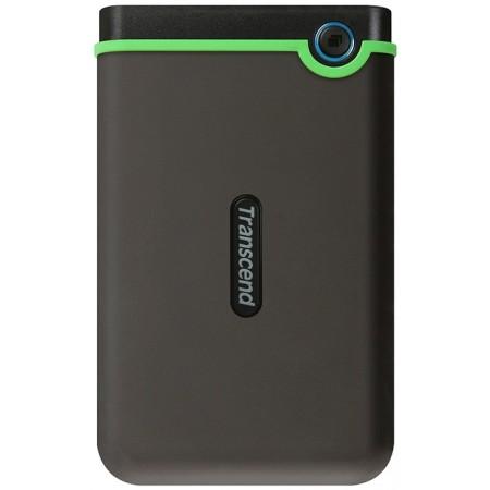 "Внешний накопитель HDD 2,5"" 1000Gb Transcend StoreJet 25M3S TS1TSJ25M3S USB 3.1 Gray/Green"