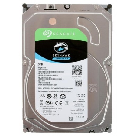 "Жесткий диск 3.5"" SATA 3000Gb Seagate SkyHawk (ST3000VX009)"
