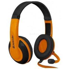 Defender Игровая гарнитура Warhead G-120 черный + оранжевый, кабель 2 м / 64099 /
