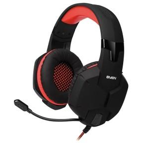 Игровые стереонаушники с микрофоном SVEN AP-G988MV, черный-красный / SV-014797 /