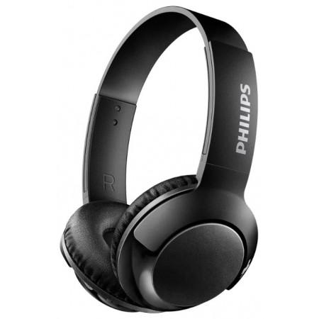 Наушники PHILIPS SHB3075BK, Bluetooth, накладные, черный [shb3075bk/00]