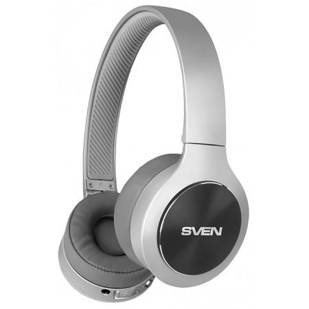 Наушники SVEN AP-B580MV, Bluetooth, с микрофоном, серый 2766
