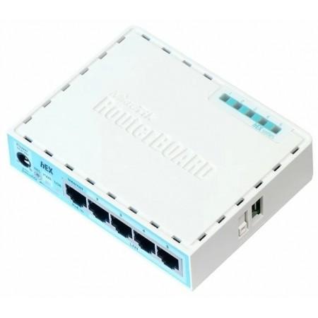 Маршрутизатор MikroTik RB750GR3 10/100/1000BASE-TX белый без Wi-Fi