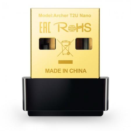 Адаптер Wi-Fi / Archer T2U Nano / AC600 Nano Wi-Fi USB Adapter, USB 2.0