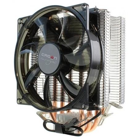 Кулер CROWN CM-4 для Intel/AMD, TDP 160Вт, 4-pin, подшипник, blue Led 154*124*84 мм